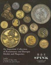 SPINK IMPORTANT Collection RENAISSANCE MEDALS PLAQUETTES Auction Catalog 1996