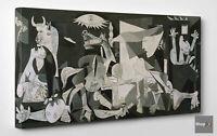 🏆 Quadro Pablo Picasso Guernica Stampa su Tela Cotone Vernice Pennellate ⭐️🎨🖌