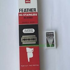 100 Blade Hi-Stainless FEATHER Brand Double Edge Razor Blade Platinum From Japan