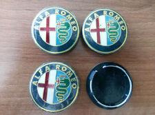 Set of 4pcs Alfa Romeo 50mm hub caps - emblem logo insignia