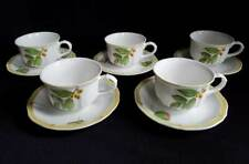 VILLEROY AND BOCH HOUSE AND GARDEN COLLECTION CUPS AND SAUCERS