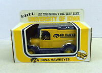 UNIV OF IOWA HAWKEYES GO HAWKS 1913 FORD PANEL TK 1983 DIECAST ERTL BANK #1351