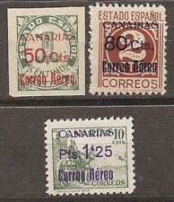 Spain Canarias Edifil # 37/39 ** MNH Set. guerra Civil