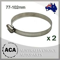 2 x Brand New Stainless Steel Hose Clamp 78mm to 102mm