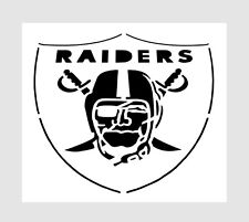 "NFL ** OAKLAND RAIDERS STENCIL ** FREE USA S&H ** RAIDER NATION * 6"" x 6"" inches"