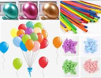 "50PCS HELIUM Pearlised Latex Balloons 10"" 12"" Wedding Birthday Party CHRISTENING"
