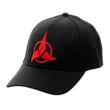 Star Trek Red Klingon Embroidered Logo Adjustable Flex Baseball Hat NEW UNWORN
