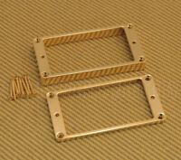 PC-0438-002 Gold Metal Curved Guitar Humbucker Pickup Rings for Les Paul® Etc