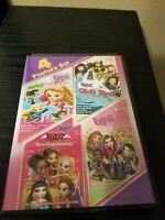 Bratz 4 Feature Set DVD Super Babyz / Girlz Rock / Sleep-Over / Fashion Pixiez