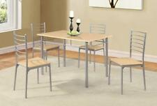 Beech Living Room Table & Chair Sets with 5 Pieces