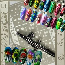 Airbrush Templates Nail Art Stencils Airbrush Templates Nail Airbrush Self Adhes