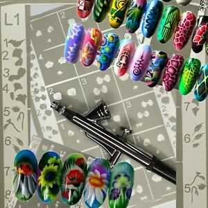 Stencils for Airbrushing in Nail Art AirStyle