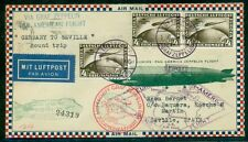 GERMANY 1930, South Amer ROUND TRIP FLIGHT - gorgeous cacheted ROESSLER cover