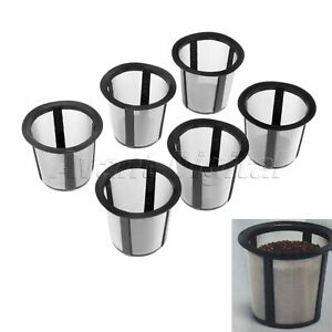 For Keurig 1.0 Coffee Filter Holder Mesh Kitchen Parts 6Pcs Stainless i Cafilas