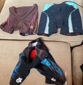 Lot of 3 Triathlon Cycling Shorts, TYR, ChampSys, Womens Small
