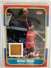 Michael Jordan 2007 Fleer Retro 1986/87 Game Hardware Piece Insert Card # RCF