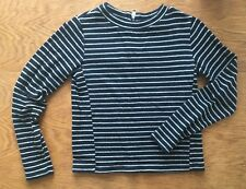 Whistles Size Xs, Jersey long Sleeve Slim Top, Crew Neck, Striped