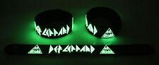 Def Leppard NEW! Glow in the Dark Rubber Bracelet Wristband Hysteria gg188