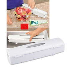 Kitchen Plastic Food Cling Wrap Foil Dispenser Cutter Preservative Film Tool GP