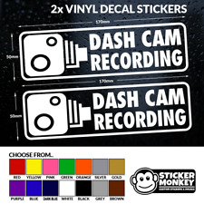 2x DASH CAM RECORDING - Car / Window / Bumper - Vinyl Decal Sticker, Any Colour!
