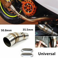 Motorcycle Exhaust Middle Pipe Link Steel Muffler Mid Section Adapter Kit 50.8mm