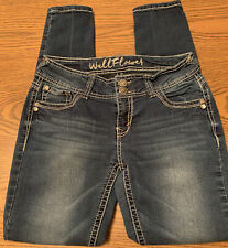 Womens Juniors Size 5 Wallfower Thick Stitch Stretch Skinny Ankle Low Rise Jeans