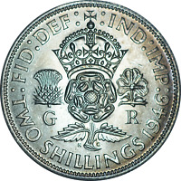 UK George VI Florin Two Shillings Coins Silver UNC Pick the coin you want