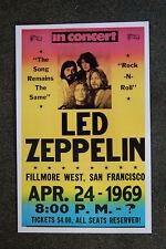 Led Zepplin tour poster 1969 San Fran