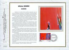FEUILLET CEF / DOCUMENT PHILATELIQUE / TABLEAU / OLIVIER DEBRE 1993 STRASBOURG