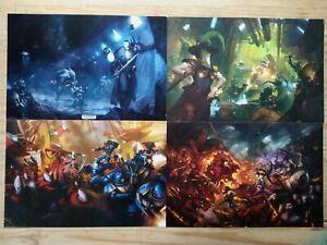 x4 Posters Wake the Dead Rogue Trader & Realm of Chaos Warhammer 40k Box Set k