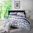 FLORENCE BROADHURST TROPICAL FLORAL NAVY Queen Size Doona Duvet Quilt Cover Set
