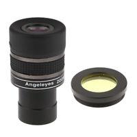 For Celestron Astronomy Telescope Zoom Eyepiece Lens Yellow Filter Moon Sky