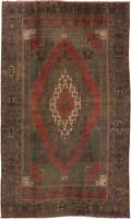 """Vintage Hand-Knotted Carpet 5'6"""" x 9'5"""" Traditional Oriental Wool Area Rug"""