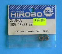 HIROBO®  SPARE PARTS ~ Bearing 4x8x3 ZZ ~ 2500-051 ~ NEW IN ORIGINAL PACKAGING