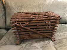 Antique twig sewing basket