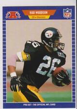 1989 Pro Set #354 Rod Woodson rookie card, Pittsburgh Steelers HOF