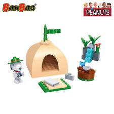 BanBao Snoopy Beagle Scout Camp Tent Building Block Set 44 PCS - Peanuts Toy
