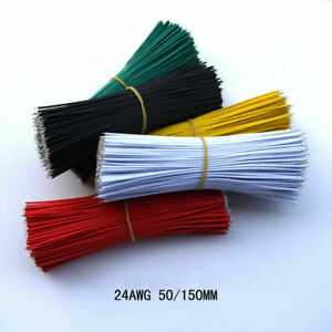60pcs 24AWG 50/150mm Wire Jumper Cable Connect Electronic Double Tinned Wire