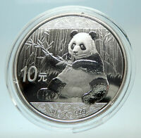 2017 CHINA PANDA w Branch & TEMPLE of HEAVEN Silver 10 Yuan Chinese Coin i76477