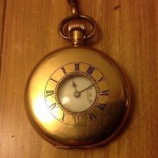 Half Hunter Gold Plated Pocket Watches