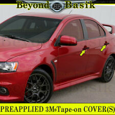 2008-2017 Mitsubishi Lancer GLOSS BLACK Door Handle Covers Overlays No SmrtK