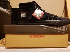 Vision Street Wear Men's Suede Hi Top Retro BLACK Skate Shoe Size US 13 NEW