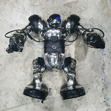 "Wowwee Robosapien Humanoid Robot 14"" Silver and Black WORKS! OFFERS ACCEPTED!!!!"
