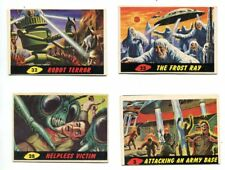 Mars Attacks 4 card lot Topps Helpless Victim Frost Ray Robot Terror Army Base
