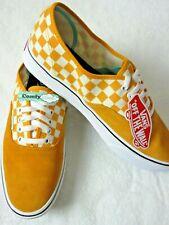 Vans Comfycush Authentic Mens Checker Zinnia Orange White shoes Size 10.5 NWT