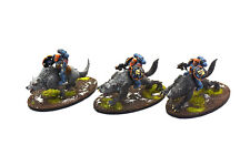 SPACE WOLVES 3 Thunderwolf Cavalry #2 PRO PAINTED Warhammer 40K Thunderwolves