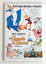 Sword in the Stone FRIDGE MAGNET (2 x 3 inches) movie poster fantasy