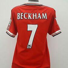 Manchester United Treble Shirt BECKHAM 7 Adult (L) 1998/1999 Home Jersey
