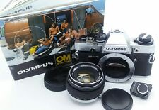 Collectable Olympus OM-10 film Camera w/f1.8 ZUIKO 50mm Lens + Booklet