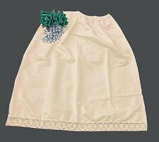 """Short Waist Full Slip Underskirt Petticoat in Ivory Length 30"""" Size 12/14  WS30"""